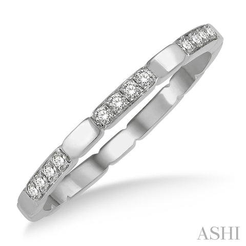 Round Cut Diamond Block Stackable Ring