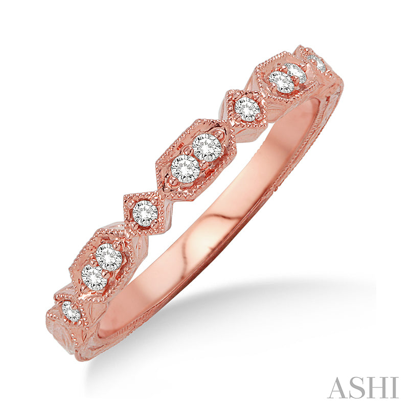Stackable Diamond Rose Gold Band