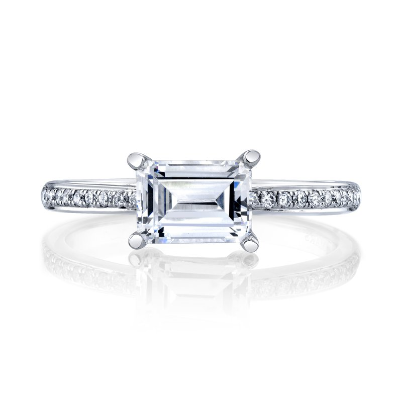 Modern Emerald Cut Diamond Ring