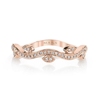 14K Rose Gold MARS Diamond Band