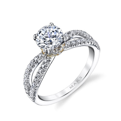 14K CLASSIC TWO TONE ENGAGEMENT RING