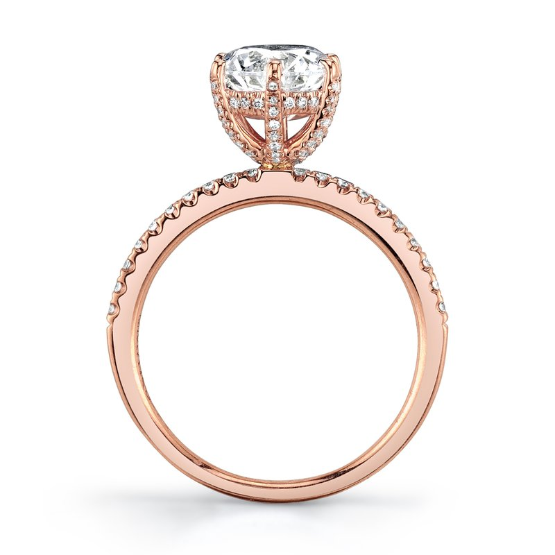 14k Rose Gold MARS Engagement Ring .26Ctw