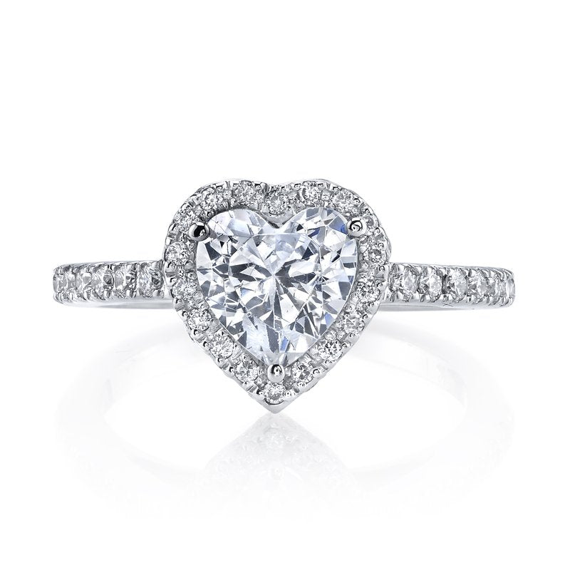 Diamond Heart Halo Engagement Ring 1.50ctw