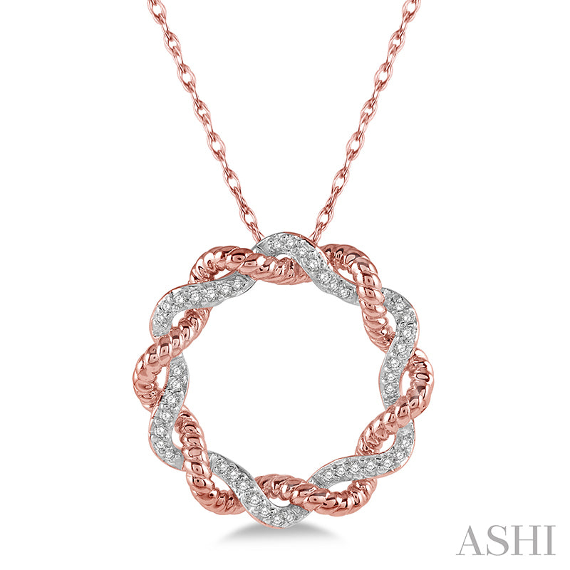 Rose Gold  Diamond Two Tone Fashion Pendant