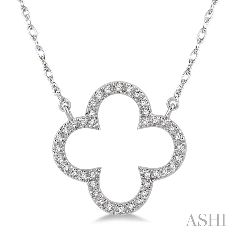 Floral Round Cut Diamond Necklace