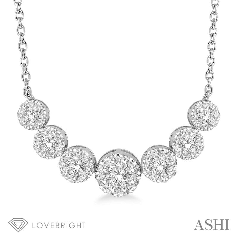 1 Ctw Round Cut Diamond Lovebright Necklace