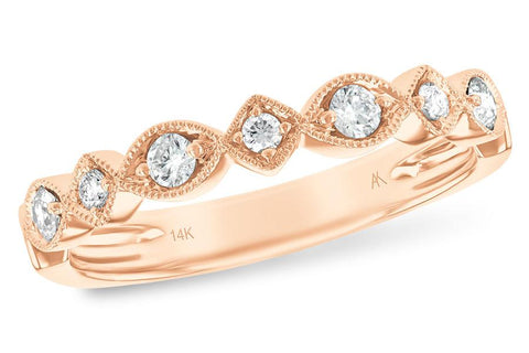14KT Gold Ladies Stackable Diamond Ring