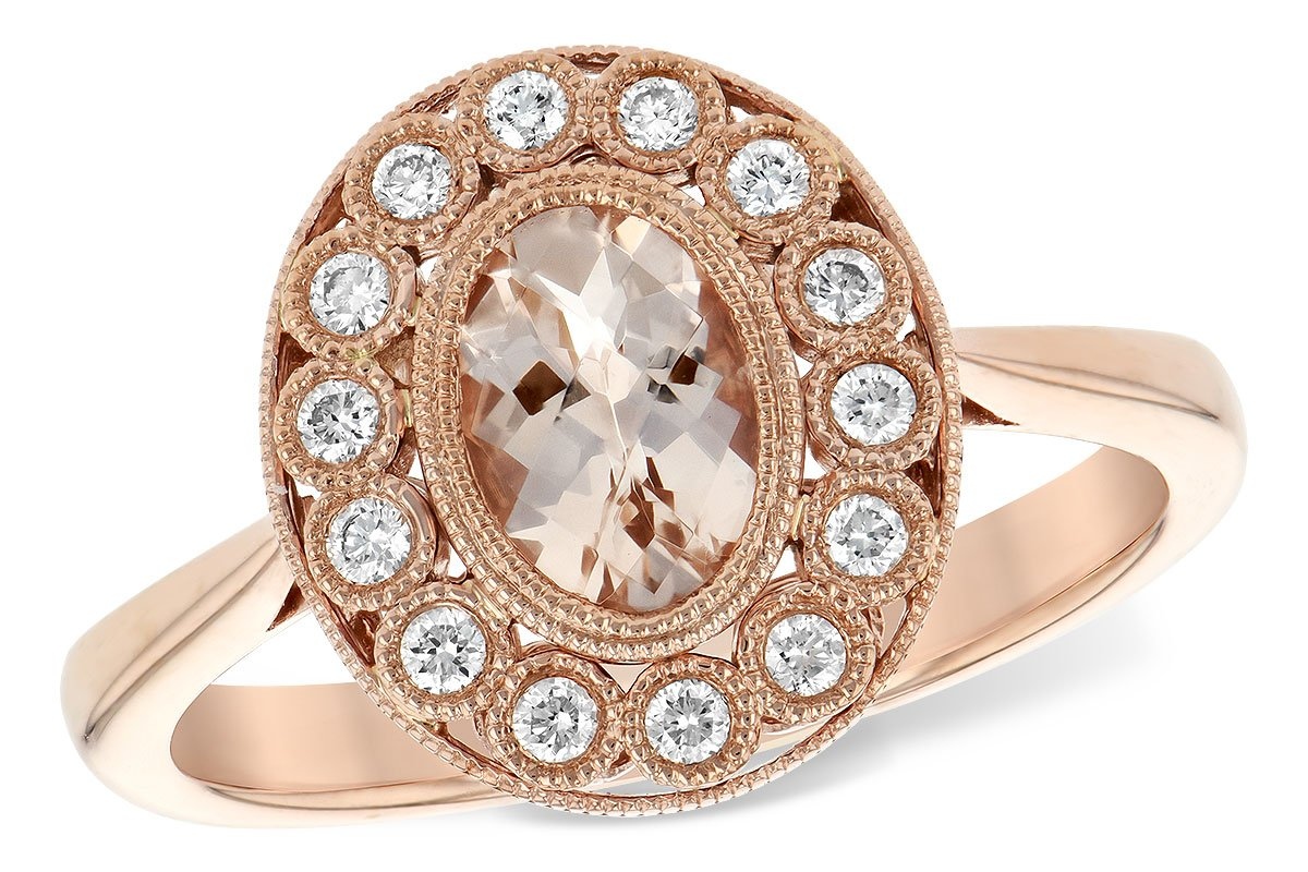 Allison Kaufman 14k RoseGold Vintage Inspired Diamond Ring