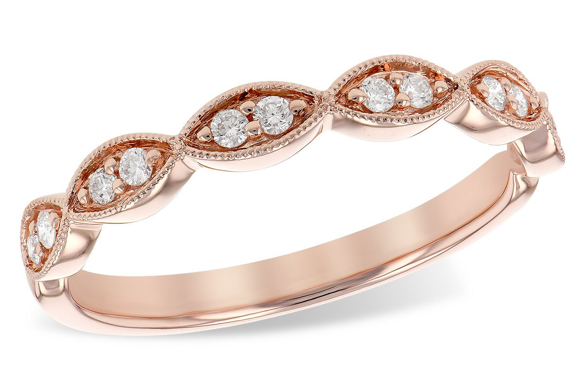 14KT Rose Gold Ladies Diamond Band