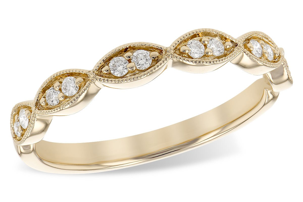 14KT Yellow Gold Ladies Diamond Stackable