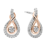 Gold & Silver Diamond Earring 1/5 ctw