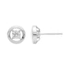 10K White Gold Diamond Earrings 1/6 ct