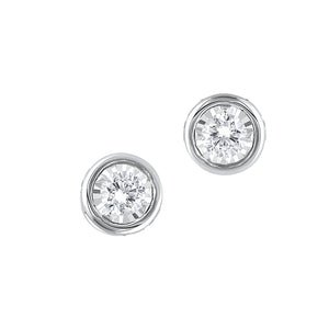14K Diamond Earrings 1/10 ctw