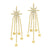 14K Diamond Star Earrings 1/4ctw
