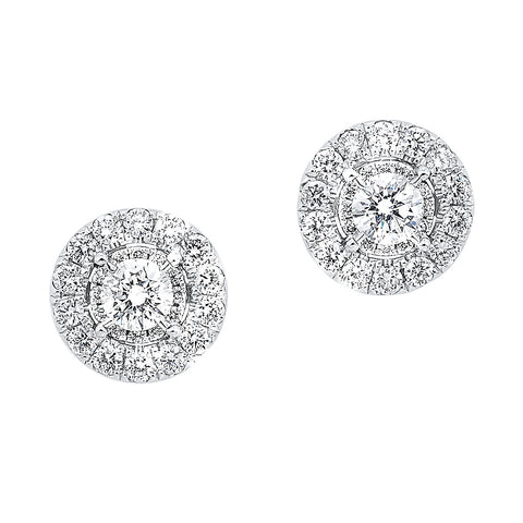 14K Diamond Earrings 1 ctw