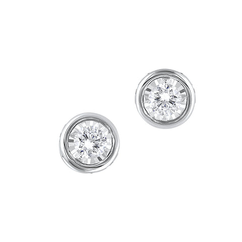 14K Diamond Earrings 1/4 ctw