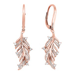 14K Rose Gold Diamond Earrings 1/3 ctw