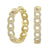 14K Diamond Chain Hoops 1/2 ctw