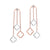 14k Rose Gold Diamond Selfie Station Earrings 3/8 ctw