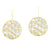 Silver Earring with 24K Gold overlay
