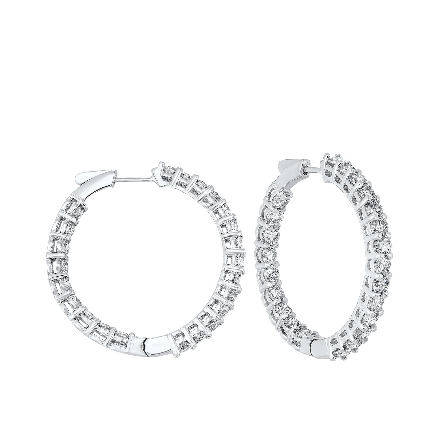 14K Round In-Out Earring 7ctw