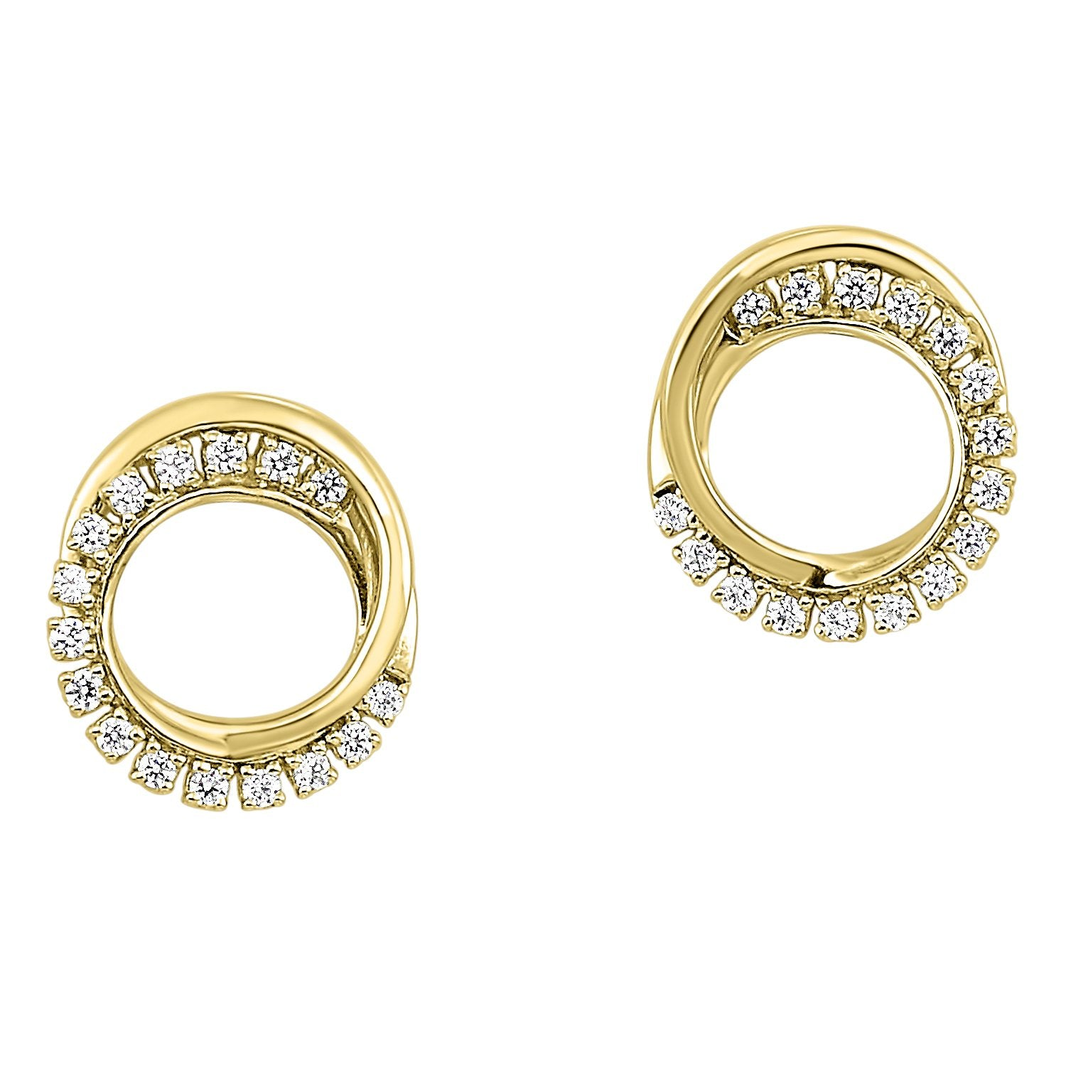 Gold Diamond Earring 1/6 ctw