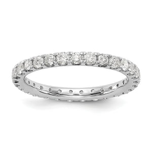 14K White Gold Eternity Band 1.00ctw
