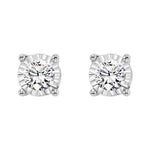 14K White Gold Diamond Studs 1 ct