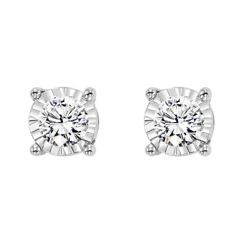 14K White Gold Diamond Studs 3/4 ct