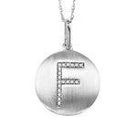 10KT White Gold Diamond Alphabet Pendant