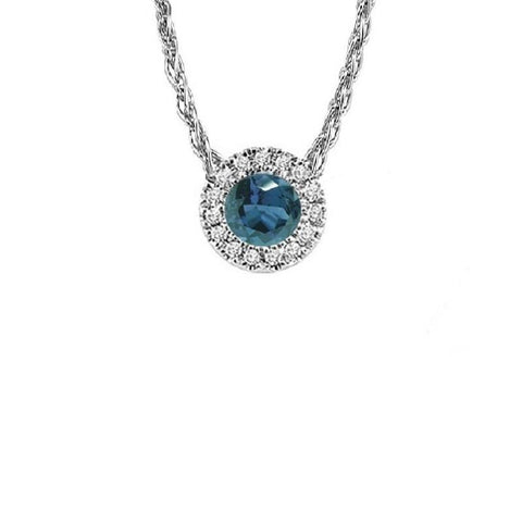 14KT White Gold Mixable Pendant - Synthetic Alexandrite - June