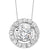 14K White Gold Diamond Pendant 1 ct