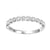 14K White Gold 1/8 ct Diamond Stackable Ring