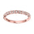 14K Rose Gold Stackable Diamond Ring