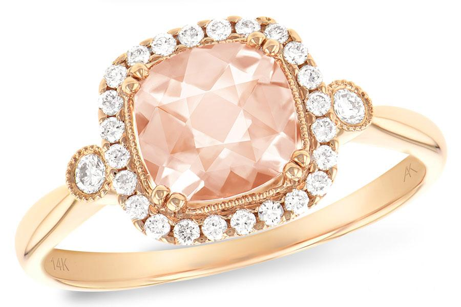 ALLISON KAUFMAN MORGANITE DIAMOND RING