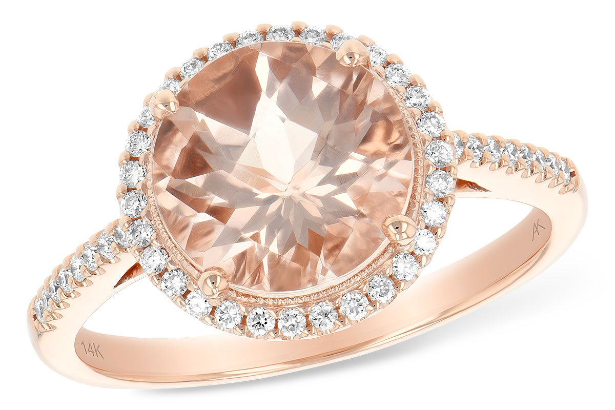 Allison Kaufman Morganite Diamond Engagement Ring