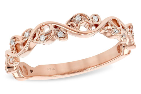 14KT Rose Gold Diamond Stackable