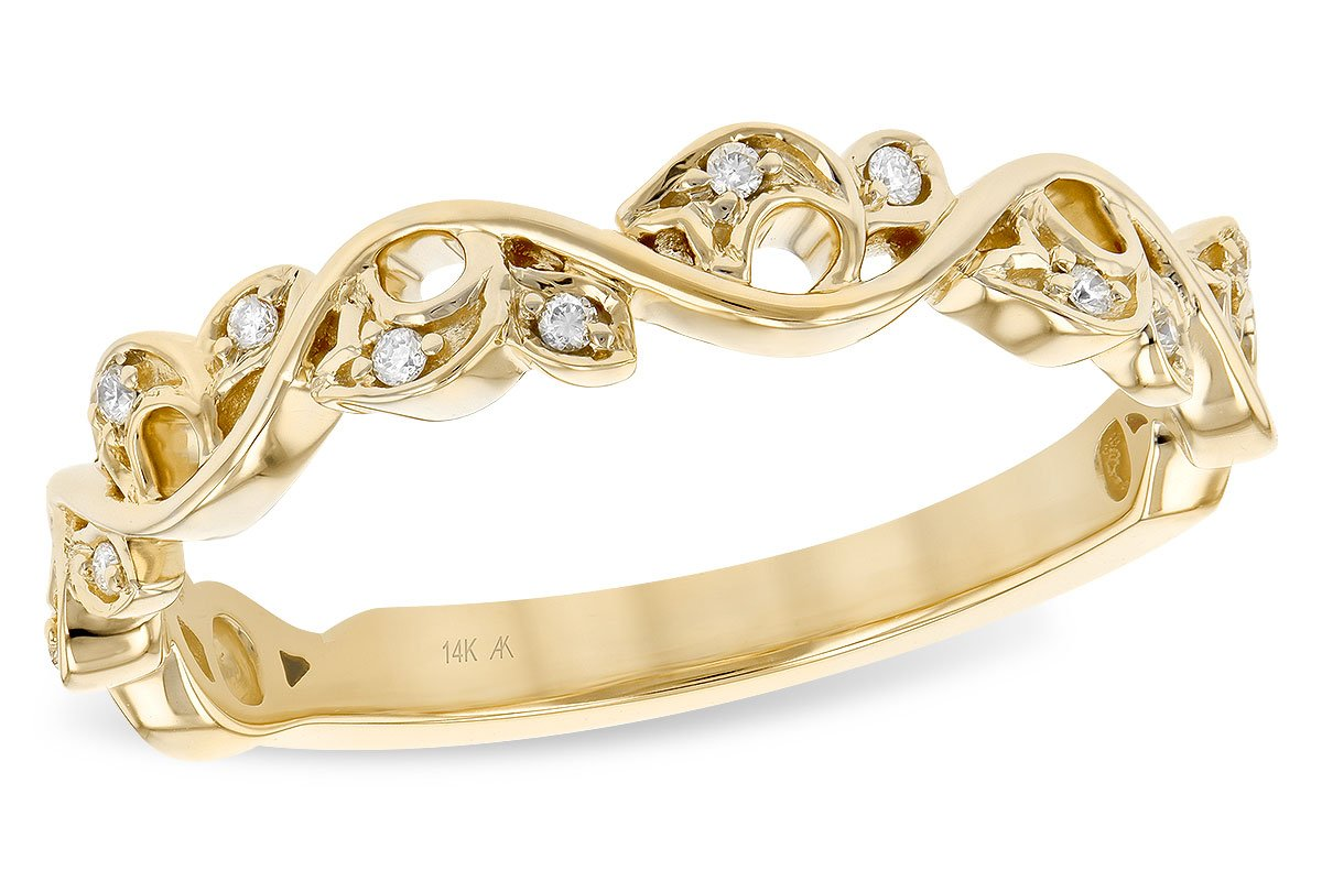 14KT Gold Ladies Stackable