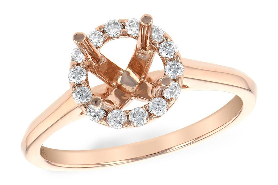 14KT Gold Semi-Mount Engagement Ring