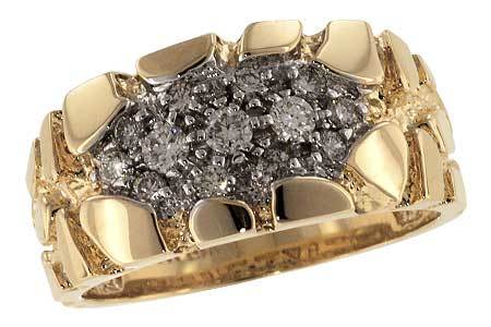 14KT Gold Mens Diamond Ring