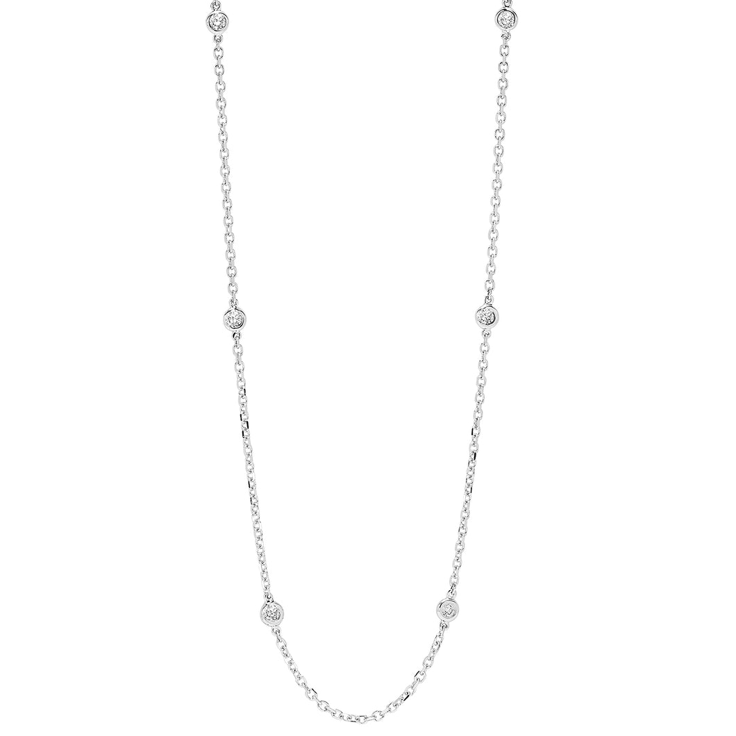 14K White Gold Diamond 1/4 ct Necklace