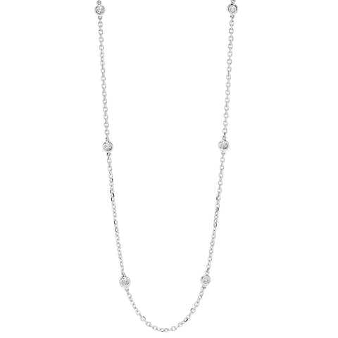 14K White Gold Diamond 2 ctw Necklace