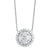 14K Diamond Pendant 1/3 ctw Halo Design