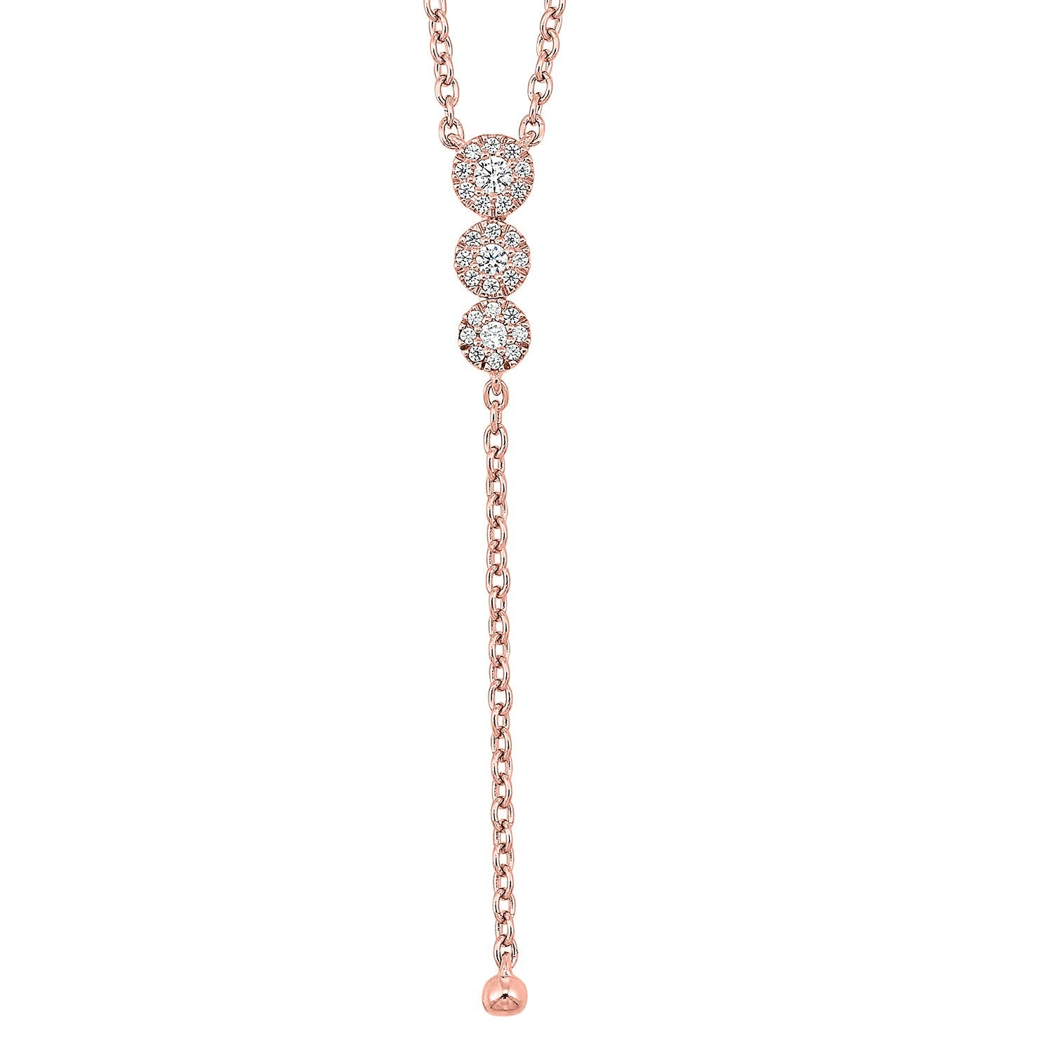 14K Diamond Necklace 1/10 ctw