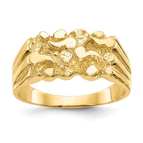 14k Nugget Yellow Gold Ring