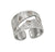 Jorge Revilla Sterling Silver/18k  Diamond Slice Ring