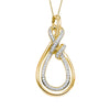 14K Yellow Gold 1/10ctw  Diamond Pendant