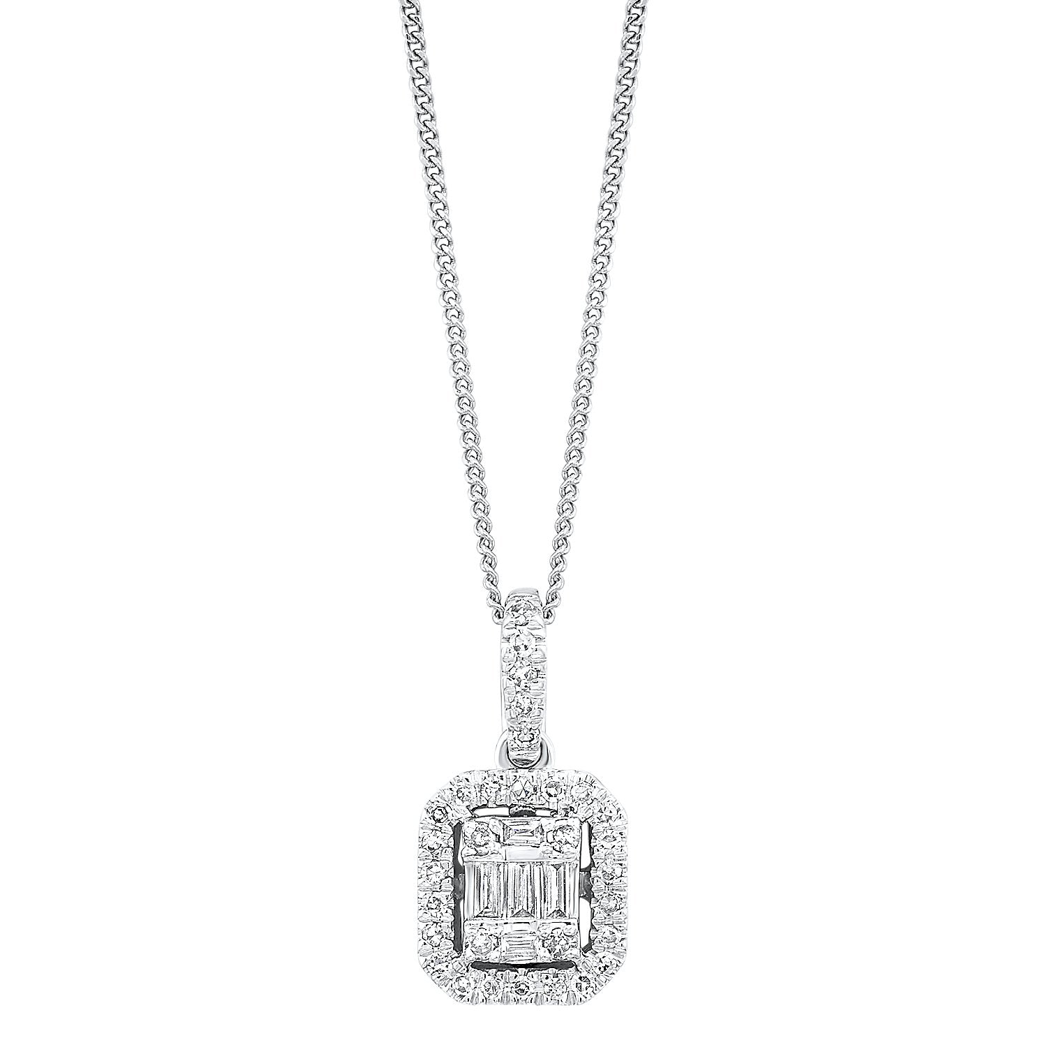 14K Diamond Pendant 1/10ctw