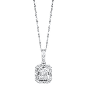 14K Diamond Pendant 1/4ctw