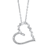 14K Diamond Pendant 1/6 ctw Heart
